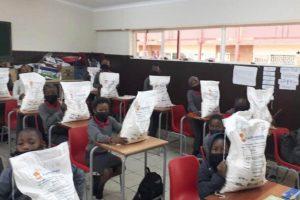 One sack of vitality porridge for each family per week