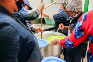 Vitality porridge distribution to teachers