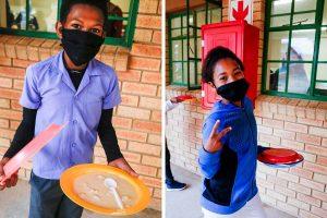 School children with vitality porridge
