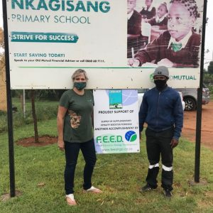 FEED project team at the start of the vitality porridge programme at Nkagisang Elementary school