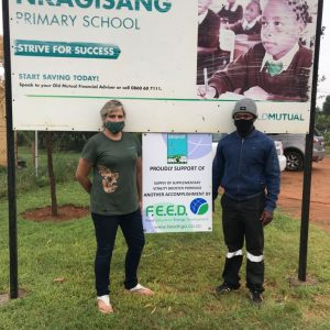 School feeding programme at Nkagisang Elementary school