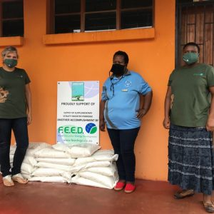 FEED project manager delivering vitality porridge to elementary school